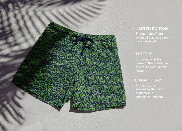 Men swimsuit embroidered limited edition