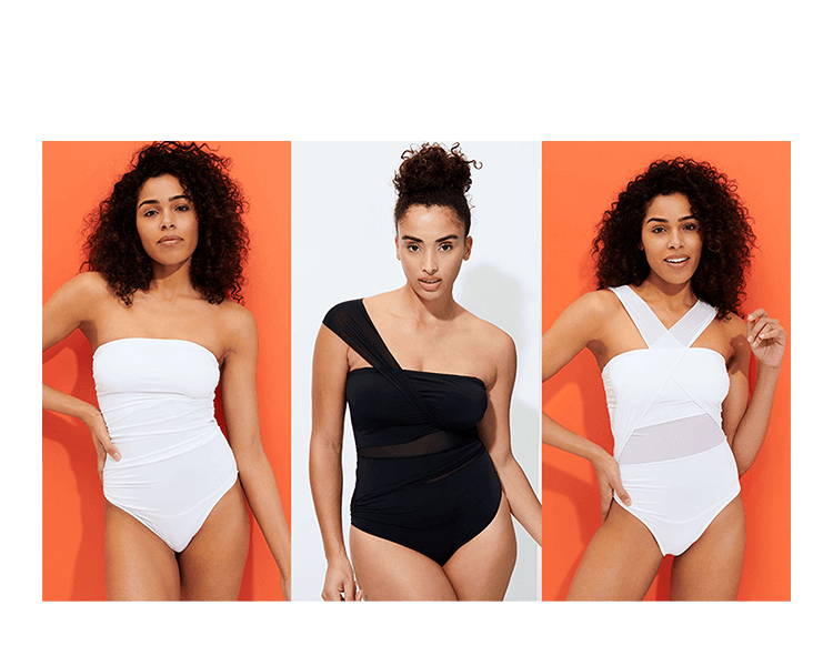 Women drapery one piece swimsuit
