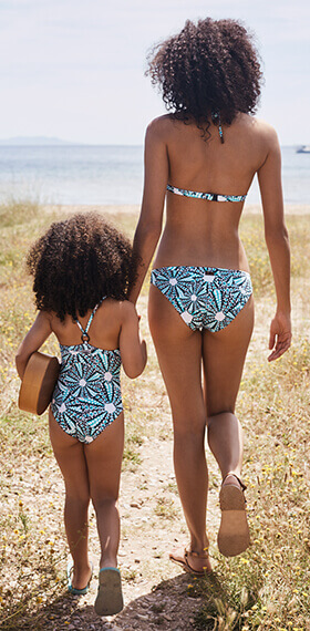 Swimwear mother and daughter, clothing, accessories Vilebrequin