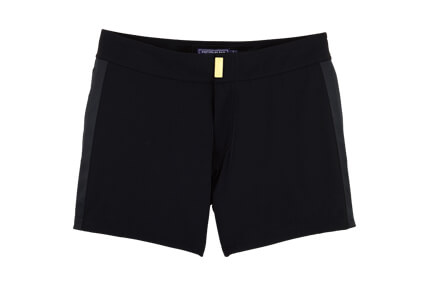 Men's black swim shorts Black smoking