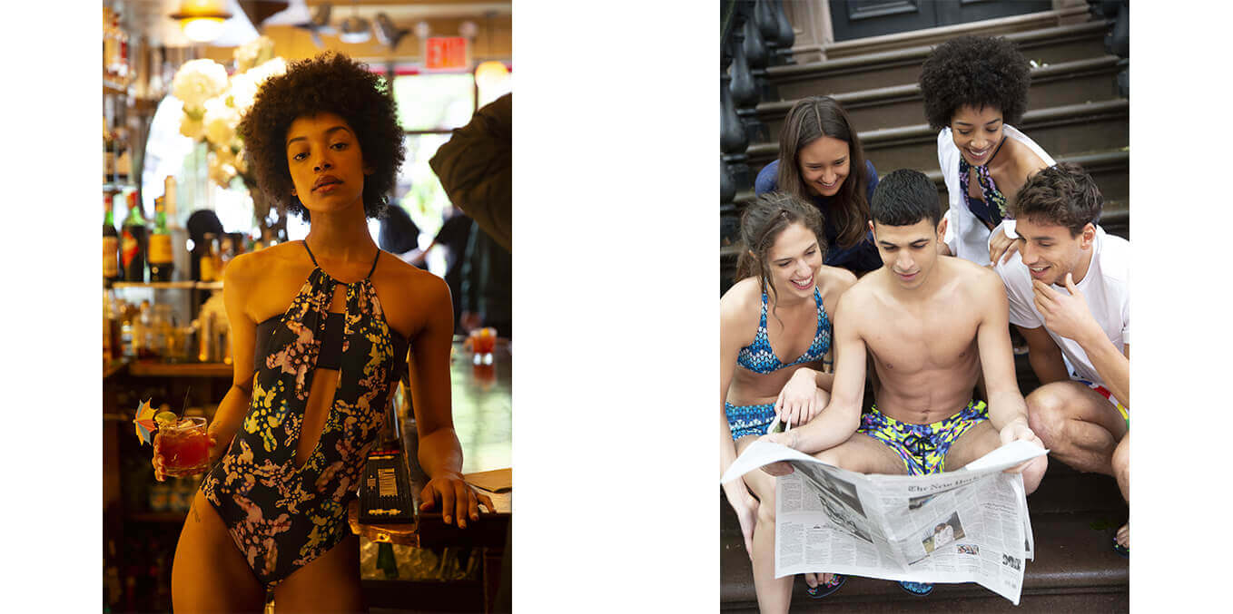 women and men swimwear in New York city Vilebrequin