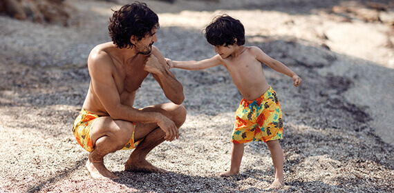 Swimwear father and son, clothing, accessories Vilebrequin