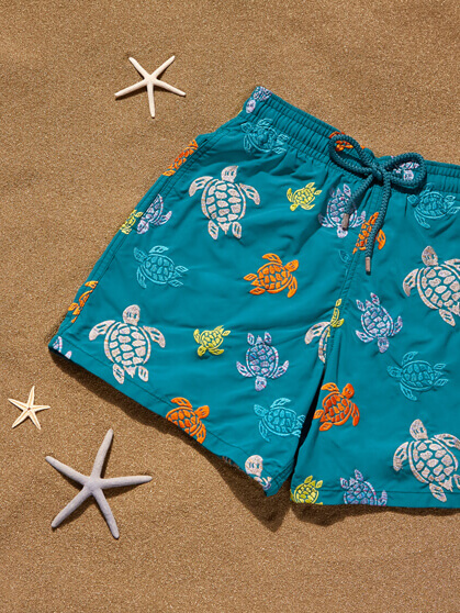 Bestickte Badehose Ronde des Tortues
