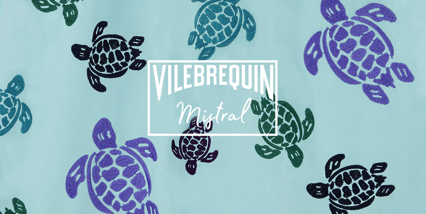 The limited embroidery swimwear by Vilebrequin
