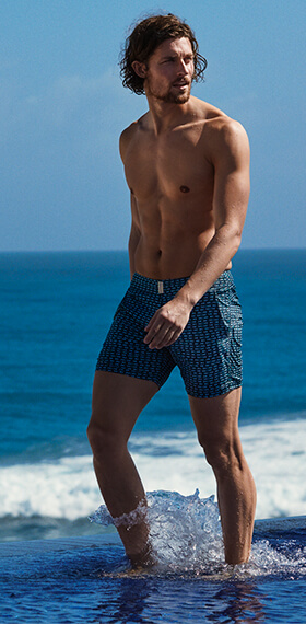 Swimwear for men fitted style Vilebrequin