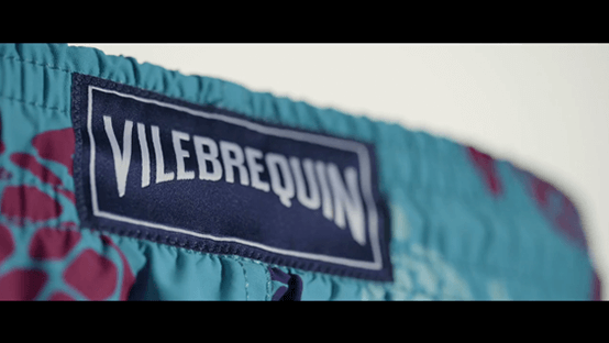 Brand label stitching by Vilebrequin