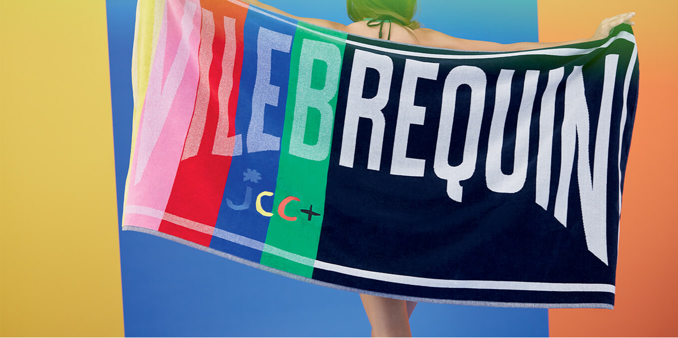 banner MULTICOLOR BEACH TOWEL - VILEBREQUIN X JCC+ - LIMITED EDITION
