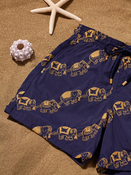 Men embroidered Elephant swimsuit