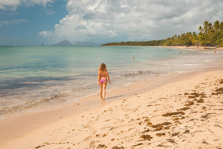 Martinique - the island's longest beach, le Diamant