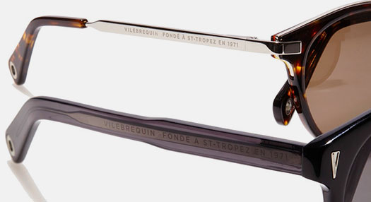 design of the eyewear Vilebrequin