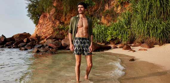 Short swimwear and swimshort for men