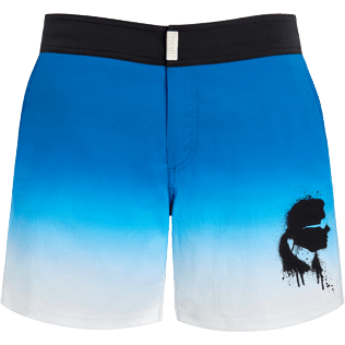 Men Flat belts Printed - Karl Lagerfeld Fitted cut Swim shorts, Ocean front