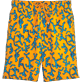Men Long classic Printed - Danse du Feu Long Cut Swim shorts, Turmeric front