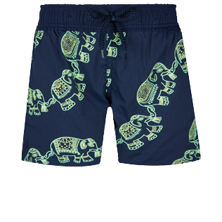 Boys Others Magique - Boys Swim Trunks Stretch Elephant Dance Glow in the dark, Navy front