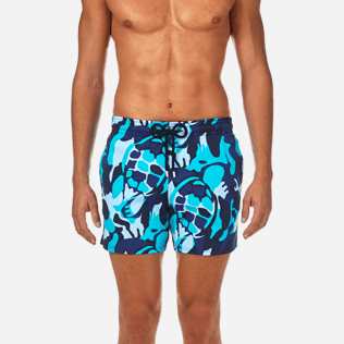 Men Stretch classic Printed - Camouflage Turtles Superflex Swim shorts, Azure supp1