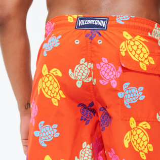 Men Long classic Printed - Men Swim Trunks Long Tortues Multicolores, Medlar supp1