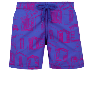 Boys Others Printed - Boys Swimtrunks Cabines de plage, Royal blue front
