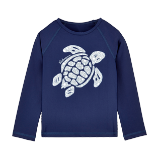 Others Printed - Unisex Kidss Long Sleeves Rashguards Solid, Navy front