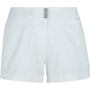 Women 111 Solid - Women Stretch Swim Short Solid, White front