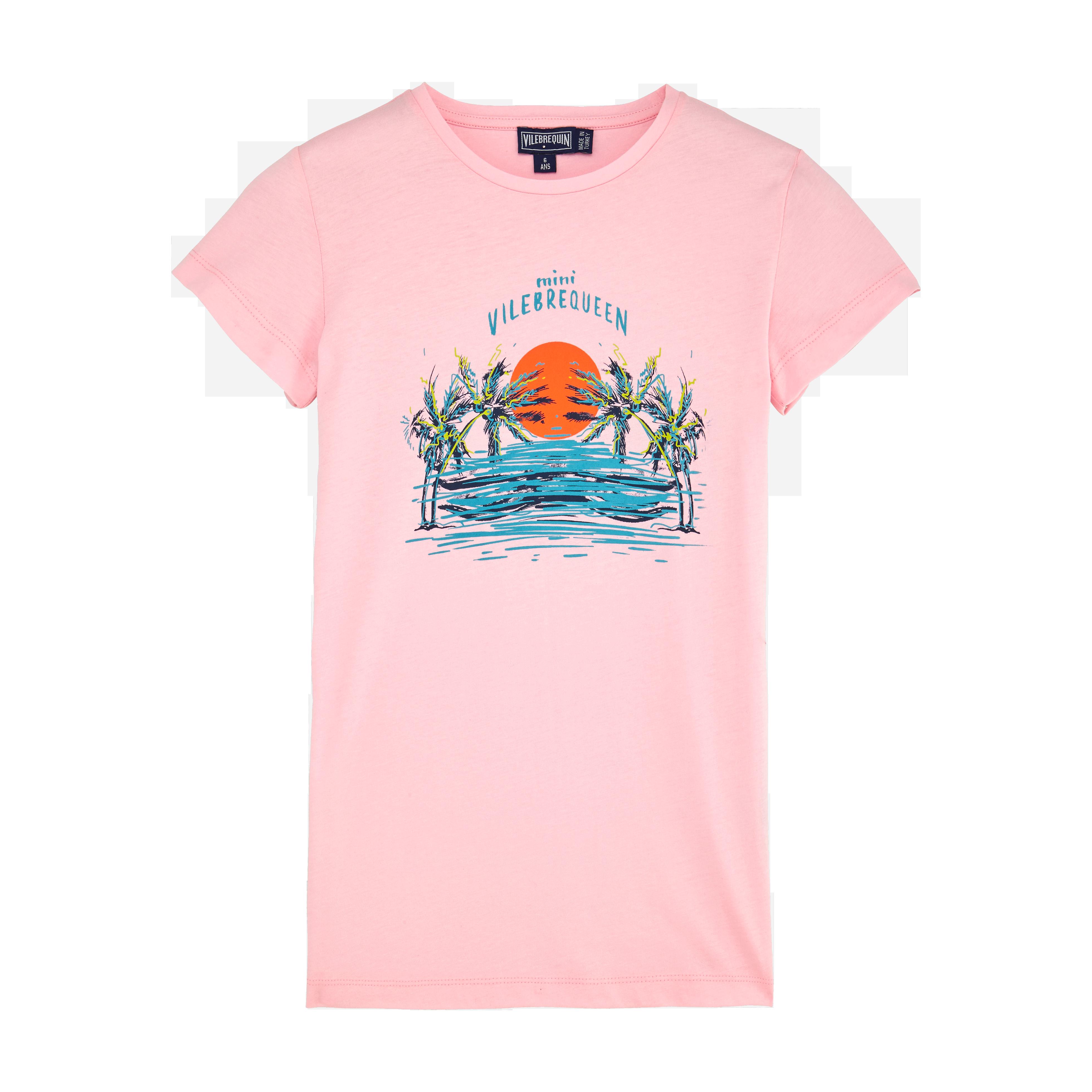 VILEBREQUIN | PAP UNISEXE ENFANT - Girls Cotton T-shirt Dress Mini Vilebrequeen - TEE SHIRT - GALIPET - Pink - 14 - Vilebrequin | Goxip