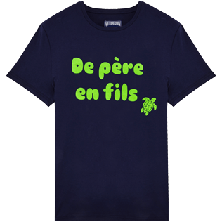 Men Others Printed - Men Cotton T-Shirt de Père en Fils, Navy front