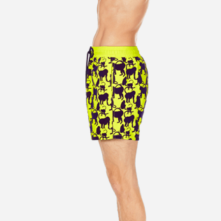 Men Classic Printed - Men Swimwear Flocked Happy Monkey, Chartreuse supp3