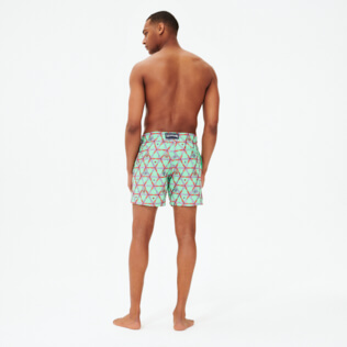 Men Classic Embroidered - Men Swimwear Embroidered Indian Ceramic- Limited Edition, Cardamom backworn
