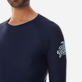 Others Printed - Unisex Long Sleeves Rashguards Solid, Navy supp1
