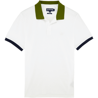 Men Polos Solid - Men Cotton Pique Polo shirt Multicolor, White front