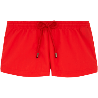Women Shorties Solid - Solid Straight cut shortie, Poppy red front
