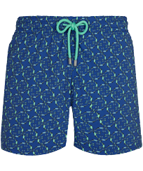 男款 Stretch classic 印制 - Men Stretch Swimwear Nataraja, Batik blue front