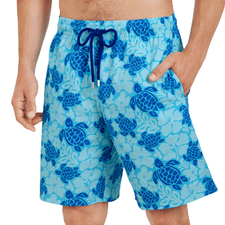 Men Long classic Printed - Men Swim Trunks Long Stretch Tortues Hawaï - Web Exclusive, Celestial supp1