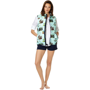 Others Printed - Unisex Sleeveless Down Jacket Joker Queen, Aquamarine supp2
