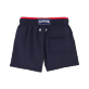 Boys Classic / Moorea Solid - Solid Bicolor Swim Shorts, Navy / red back