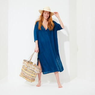 Women Others Solid - Women Linen Dress Solid, Goa supp2