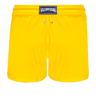 Men Short classic Solid - Men Swimwear Short and Fitted Stretch Solid, Buttercup yellow back