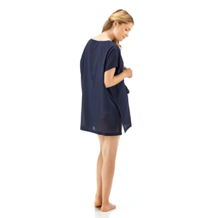 Women Dresses Solid - Solid Cover-up Dress, Navy supp2
