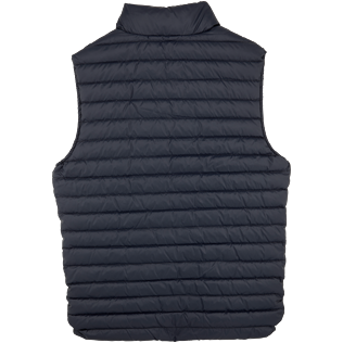 Others Solid - Unisex Sleeveless Down Jacket Solid, Navy back