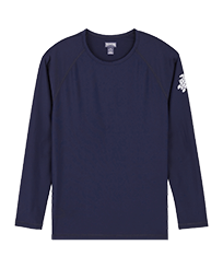 Men Others Solid - Men Rashguard Solid, Navy front