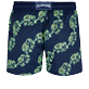 Men Stretch classic Magical - Men Swim Trunks Stretch Elephants Dance Glow in the dark, Navy back