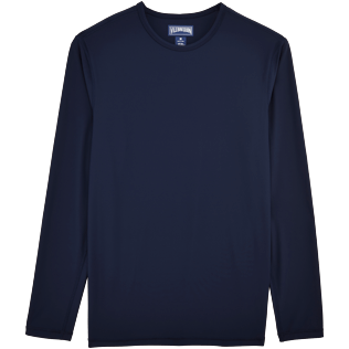 Men Others Solid - Turtles Anti-UV long sleeves T-Shirt, Navy front