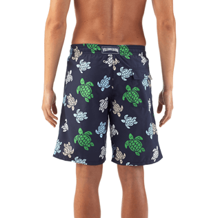 Men Long Printed - Multicolor Turtles Long Cut Swim shorts, Navy supp3