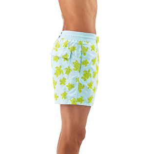 Men Classic / Moorea Printed - Flocked Turtle Print Swim Shorts, Frosted blue supp1