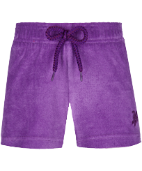Girls Others Solid - Girls Swim Short Terry Cloth Solid, Orchid front
