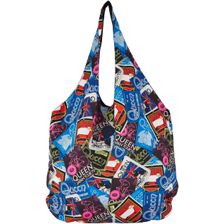 Autros Estampado - Bolsa plegable extragrande con estampado Queen Tour, Mar azul front