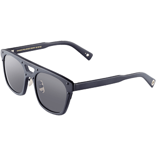Others Solid - Unisex Sunglasses Polarized Lenses, Black back