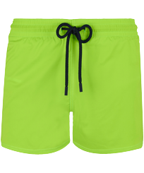 Men Short classic Solid - Men Swimwear Short and Fitted Stretch Solid, Wasabi front