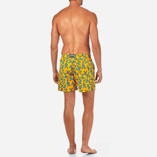 Men Classic / Moorea Printed - Danse du Feu Swim shorts, Turmeric backworn
