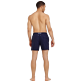 Men Classic Embroidered - Men Swim Trunks Placed Embroidery Le Vilebrequin, Navy backworn