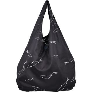 Others Printed - Oversize Lightweight Foldable Bag Fish Dance, Black front